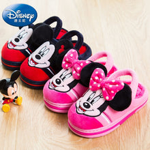 Load image into Gallery viewer, Disney cartoon Mickey autumn and winter cotton slippers 2019 new Minnie cotton shoes