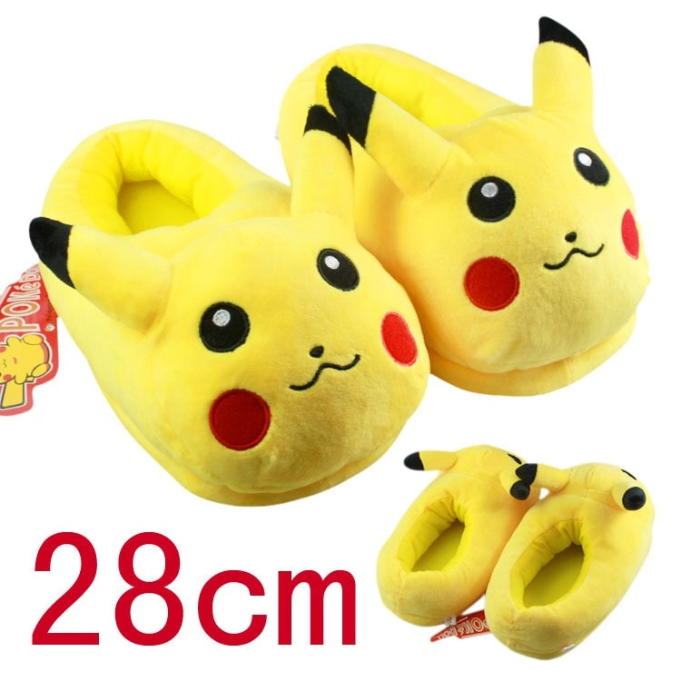 Jron Unisex Anime Cartoon Snorlax Eevee Slipper House Women Warm Indoor Wood Floor Home Plush Shoes Mens Slipper