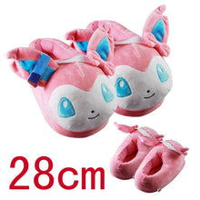 Load image into Gallery viewer, Jron Unisex Anime Cartoon Snorlax Eevee Slipper House Women Warm Indoor Wood Floor Home Plush Shoes Mens Slipper