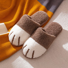 Load image into Gallery viewer, Cotton Slippers Female Winter Fashion Women's Home Shoes Cartoon Cute Cat Claw Plush Couple Warm Indoor Soft Bottom Men Slider