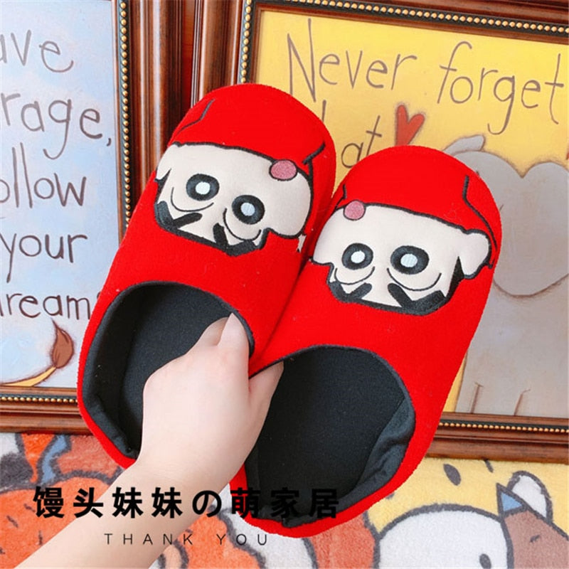 Cute Cartoon Crayon Shin-chan Plush Couple Men and Women Home Shoes Home Interior Floor Cotton Slippers Easter gift