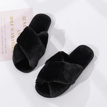 Load image into Gallery viewer, ASIFN Winter Women House Slippers Faux Fur Warm Flat Shoes Bedroom Female Slip on Home Furry Ladies Slippers Dropshipping