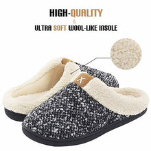 Load image into Gallery viewer, ASIFN Men Cozy Memory Foam Slippers Home Warm Winter Male Shoes Indoor Man Fur Basic Non-Slip Slipper Sepatu Pria Plus Size