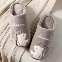 Load image into Gallery viewer, Cute Hedgehog Women Winter Home Slippers Cartoon Animal Slip On Soft Warm House Shoes Men Ladies Couple Indoor Bedroom Footwear