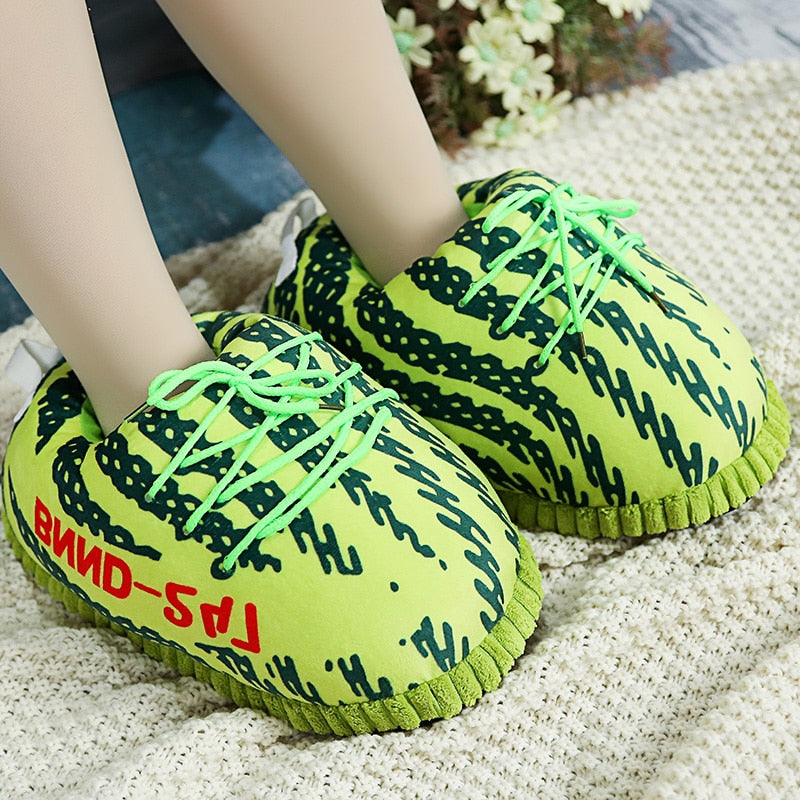 Sneaker Slippers Cotton Home Slippers Men Women Couple  Size 35-42 Indoor Snug Sneakers Winter Slippers For Vip Wholesale