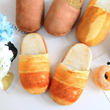 Load image into Gallery viewer, Women Pantufa 3D Bread Lovers Adult Slippers Indoor Floor Home Shoes Bedroom Warm Soft Slippers Pantunflas Para Mujer Chistosas