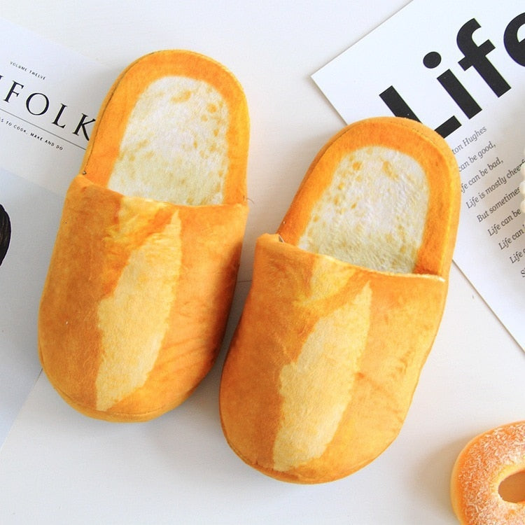 Women Pantufa 3D Bread Lovers Adult Slippers Indoor Floor Home Shoes Bedroom Warm Soft Slippers Pantunflas Para Mujer Chistosas