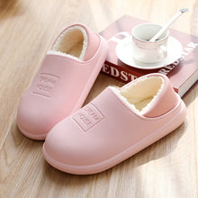 Load image into Gallery viewer, Waterproof Women Winter Home Slippers Indoor Work Home Shoes Cotton Non-slips Ladies Soft Slippers Memory Foam Couples Shoes