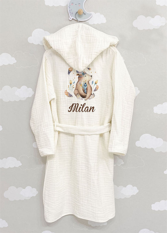 4 Layered Muslin Bathrobe
