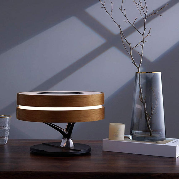 Lamp with Wireless Charger and Speaker