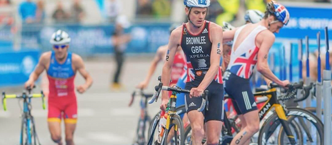 athlete with a one piece trisuit example