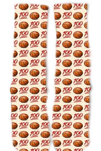 Emoji Basketball Socks