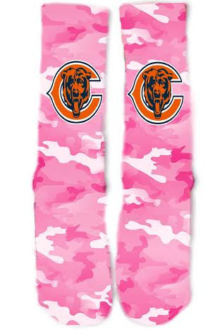 Chicago Bears Breast Cancer Socks