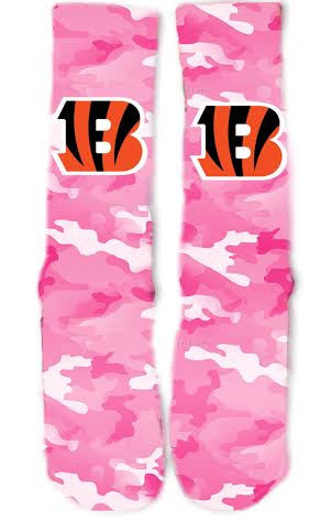 Cincinnati Bengals Breast Cancer Socks