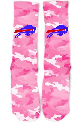 Buffalo Bills Breast Cancer Socks
