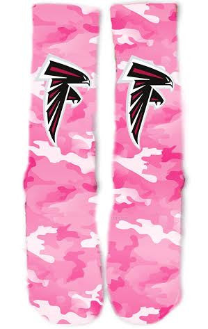 Atlanta Falcons Breast Cancer Socks