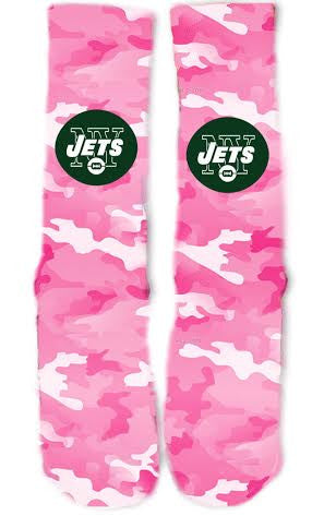 New York Jets Breast Cancer Socks