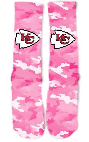 Kansas City Chiefs Breast Cancer Socks