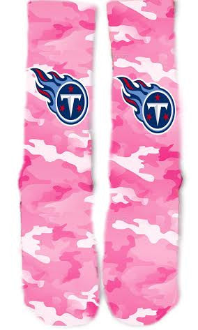 Tennessee Titans Breast Cancer Socks