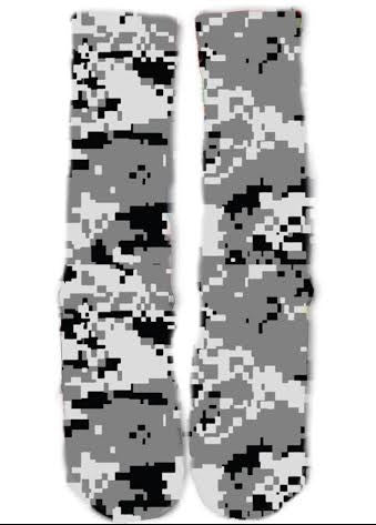 Black Digi Camo Socks