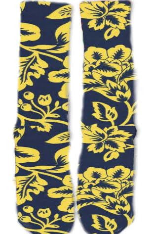 Blue and Yellow Floral Socks