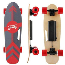 Load image into Gallery viewer, affordable electric skateboard in red and black color