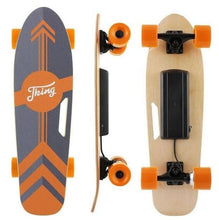 Load image into Gallery viewer, affordable electric skateboard in orange and black color combo