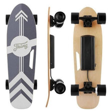 Load image into Gallery viewer, affordable electric skateboard pictured here in white and black color combo