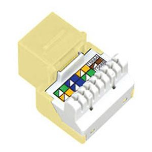 Allen Tel AT55-52 Cat 5e Jack Module, Electric Ivory