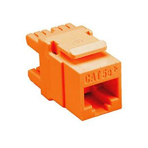 Allen Tel AT65-16 Cat 5e High Density Jack Module, Orange