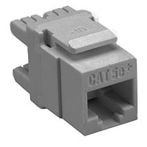 Allen Tel AT65-14 Cat 5e High Density Jack Module, Grey