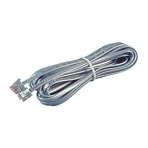 Allen Tel AT607 Full Modular 6-Conductor Telephone Phone Line Cord, 7 FT