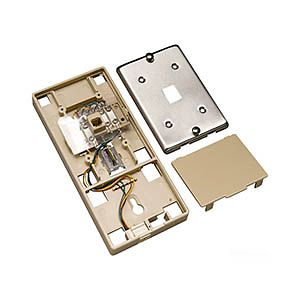 Allen Tel AT631A Wall Phone Jack Assembly with Auxiliary Port