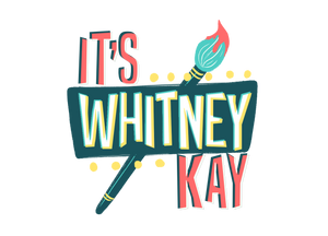 Logo for It's Whitney Kay - Art Memes Fantasy Portraits Drawing Sketches Painting Artist Artwork Portfolio TShirt Shirts Clothes Shop Shopping Buy Mugs Gifts Laptop Bags Purses Whitney Kay Rader Tips Learn Education Colorful Paint Brush Mom Dad Christmas