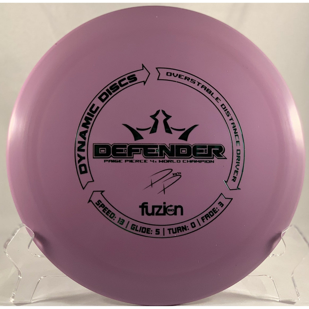 Dynamic Discs BioFuzion Defender Paige Pierce Stamp