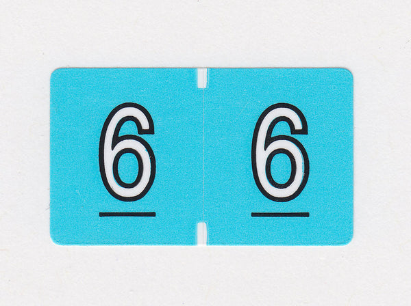 Brunswick Data Numeric Colour Coded Labels - 0200 Series, Acme Visible - 1