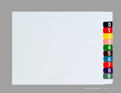 Digi Numeric Colour Coded Labels - 0300 Series, Acme Visible - 2