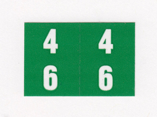 Digi Numeric Colour Coded Labels - 0900 Series, Acme Visible - 1