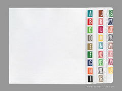 COL'R'TAB Alphabetic Colour Coded Labels - 82000 Series (Package), Acme Visible - 2