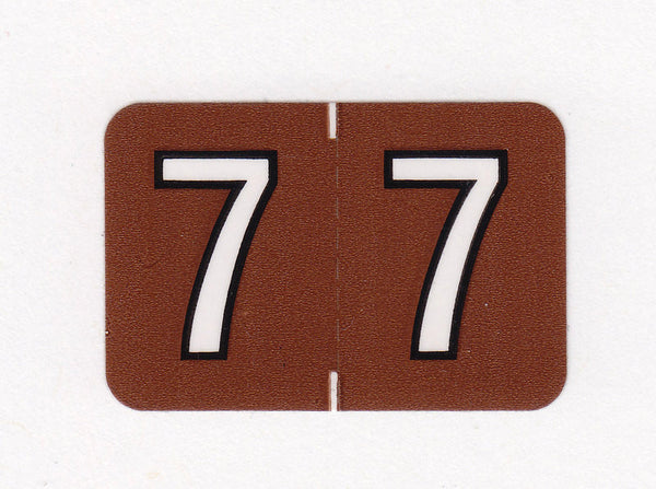 Barkley Compatible Numeric Colour Coded Labels - 2800 Series, Acme Visible - 1