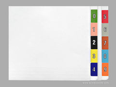 Acme Visible Numeric Colour Coded Labels - K4400 Series, Acme Visible - 2