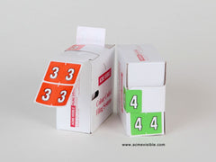 Datafile Compatible Numeric Colour Coded Labels - K5205 Series, Acme Visible - 3