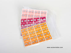 Acme Visible Alphabetic Colour Coded Labels - K5224 Series, Acme Visible - 3