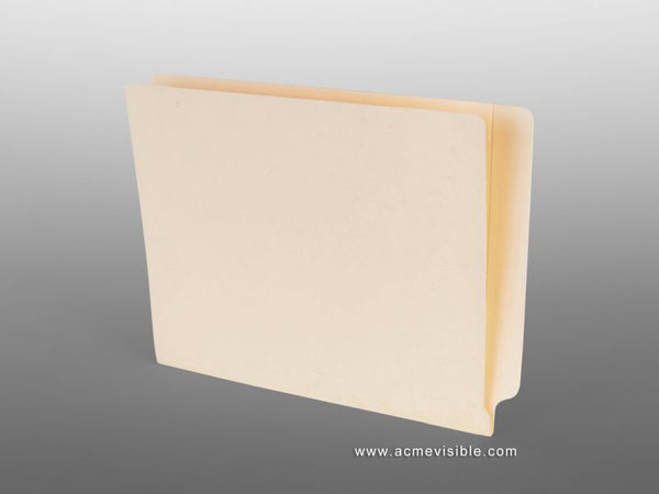 Side Tab File Folders (Mylar Laminated, Notched End Tab), Acme Visible