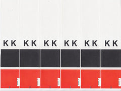 Acme Visible Kromakode Alphabetic Colour Coded Labels - KK Series, Acme Visible - 3