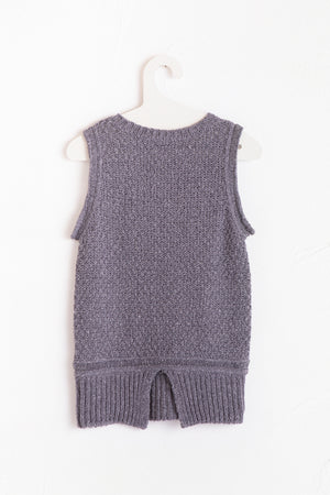 White Nep Knit Tank Top