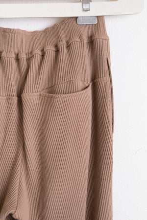 Broad Rib Lace-Up Pants