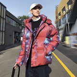 IEFB men's clothing Shiny short Korean cotton padded jacket hooded winter coat loose oversized warm clothes for male 9Y4698