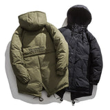 IEFB Men's Winter Medium Length Cotton Padded Clothes Fashion Casual Winter Coat Loose Hooded Work Clothes Jackets Male 9Y4839