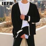 IEFB autumn winter new cardigan sweater coat loose Korean fashion single breasted casual outerwear kintted clothes male 9Y4237